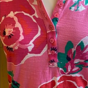 Lilly Pulitzer Tops - Lilly Pulitzer pink floral polo shirt
